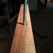 Pemasangan Baut utk Pintu Solid Merbau